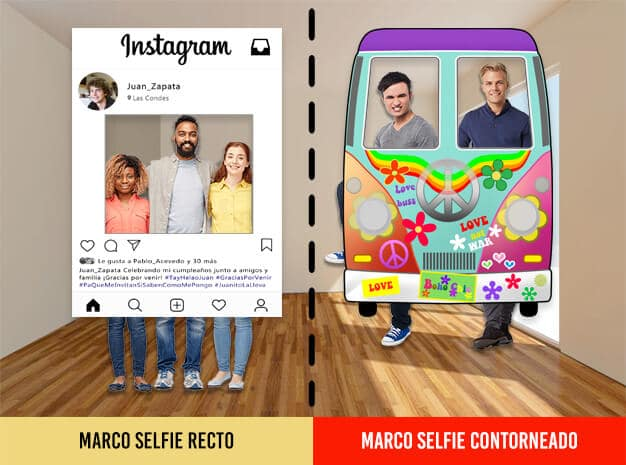 Tipos de marcos selfie