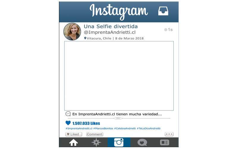 Marco Selfie modelo Instagram tradicional