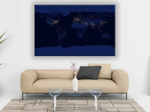 Cuadro Mapa del Mundo Blu Dei Mari