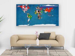 Cuadro Mapa del Mundo modelo Paesi
