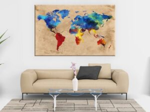 Cuadro mapa del mundo modelo Terra
