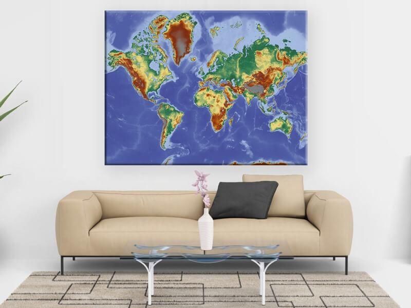 El cuadro Mapa del Mundo Alto Mare