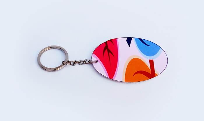 Llavero forma de oval personalizable