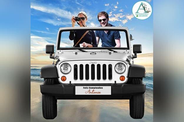 Marco selfie modelo Jeep