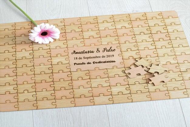 Puzzle para dedicatorias de matrimonio