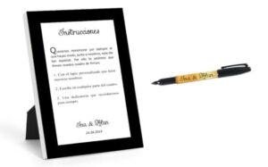 Instrucciones cuadro de firmas