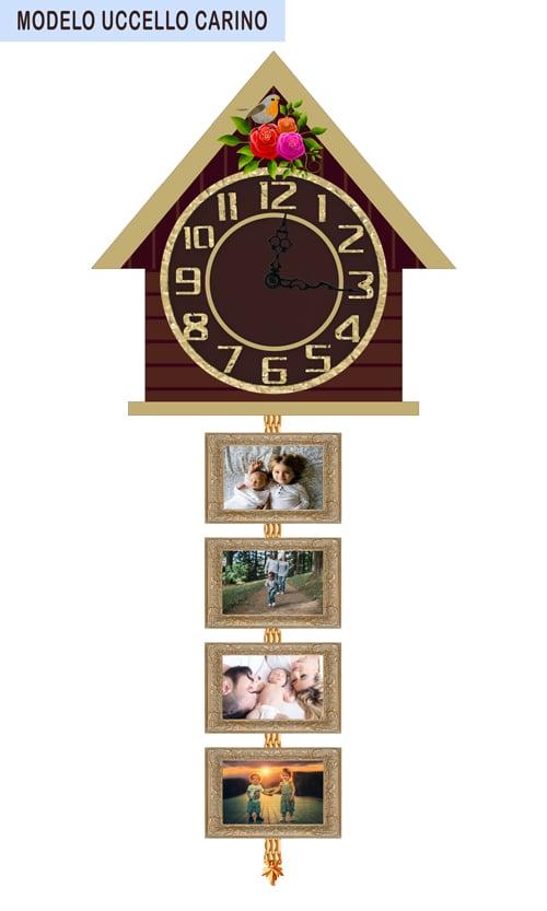 Reloj personalizado de pared Modelo Uccello Carino