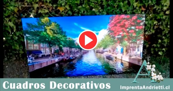 Vídeo cuadro decorativo personalizado