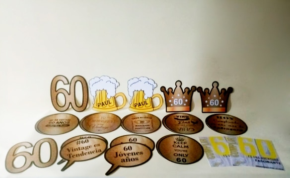 Letreros personalizados temáticos para fiestas eventos