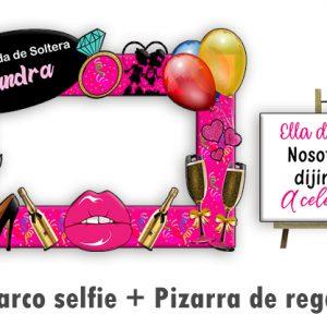 Marco selfie Despedida de Soltera linea Champagne