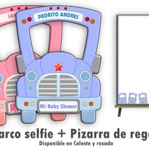 Marco selfie para Baby Shower linea Vecchio Veicolo