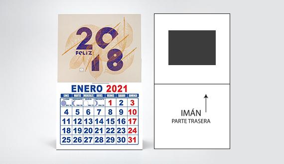 mini calendario con imán