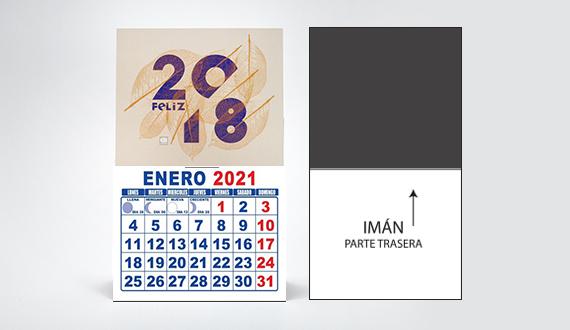 Mini calendarios con imán
